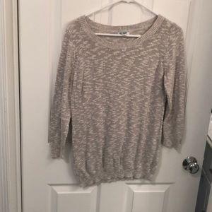 Grayish white light sweater from Old Navy
